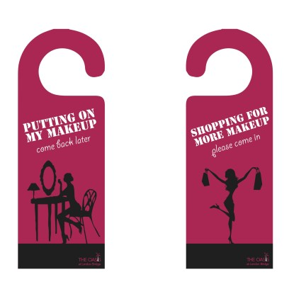 Doorknob hangers for hotel guest rooms